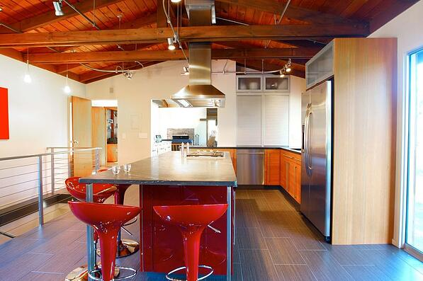 Contemporary Kitchen with Track Lights