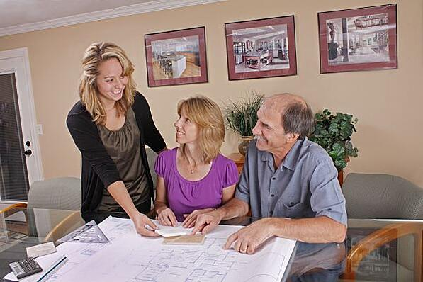 Customers Meeting with a Design-Build Remodeling Contractor