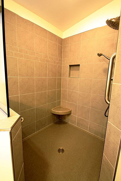 Walk-in Shower with Onyx Custom Shower Base