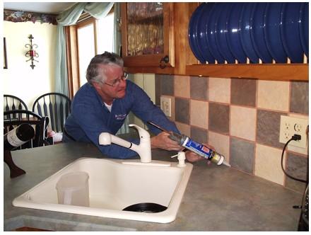 Kitchen Calking Repair