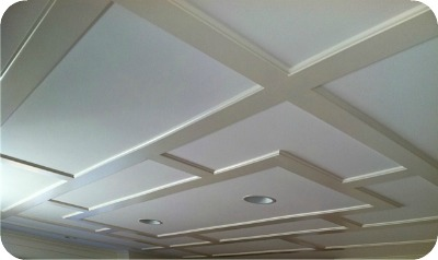 Coffered ceilings beams and more architectural trends for Foam coffered ceiling