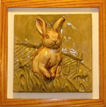 Framed Rabbit Tile