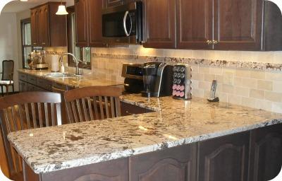 Elegant Granite Or Quartz Countertops