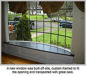 Custom-framed lead glass window
