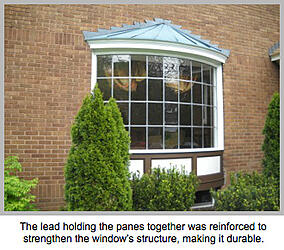 Lead reinforced to strengthen window's structure