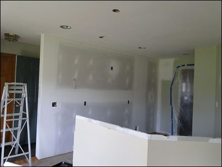 drywall and lightinig installation