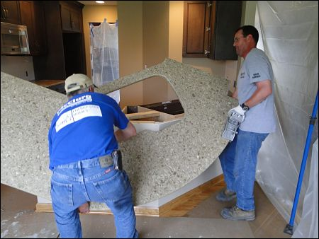 kitchen counter installation