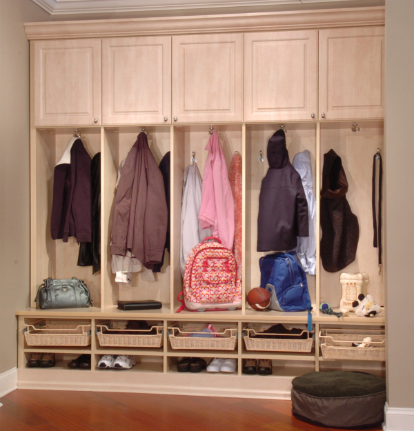"""Foyer Storage Zones : How to organize your home s """"drop zones for winter storage"""
