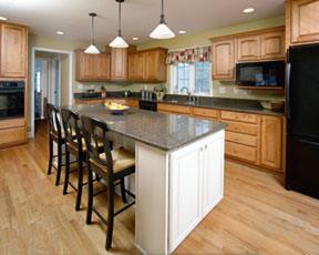 Kitchen with Natural Finish and Island