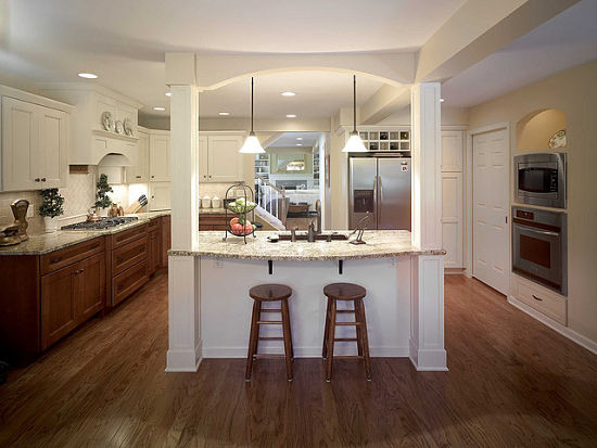 Kitchen With A Central Island