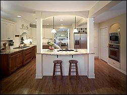 Kitchen with Central Island