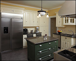 Kitchen with Commercial Refrigerator