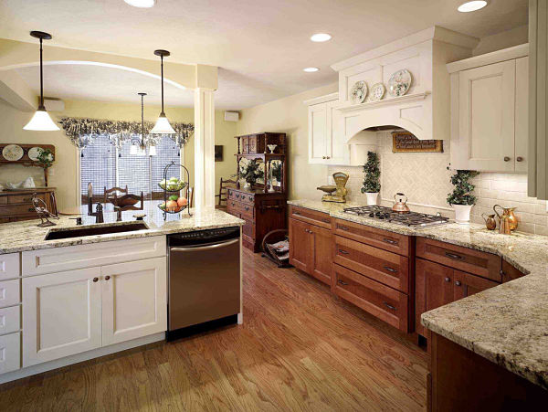 kitchen with shaker style cabinets