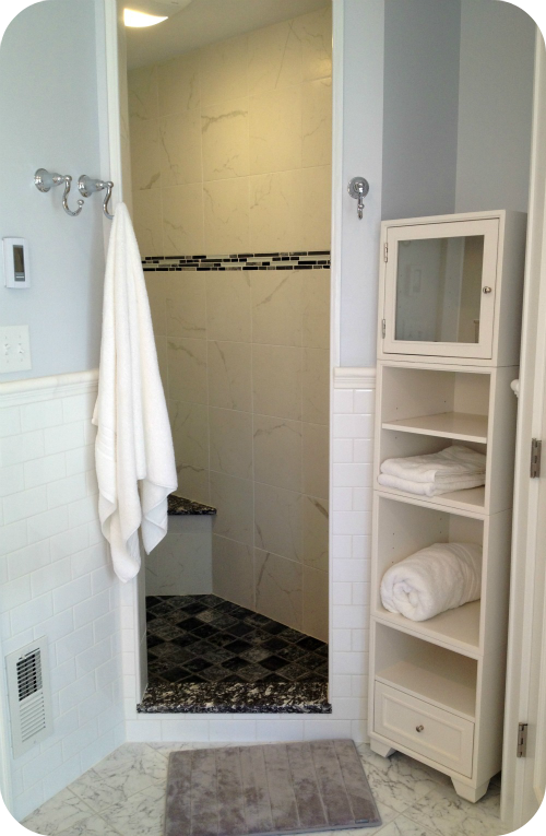 A bathroom remodel from start to finish photos for Bath remodel timeline