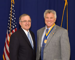 Scott McClurg and Senator DeFrancisco