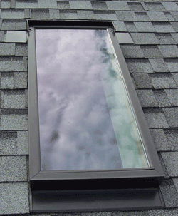 Check skylights for leaks