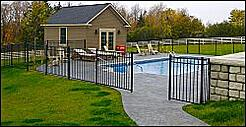 Stampcrete Sidewalk Surrounding Pool