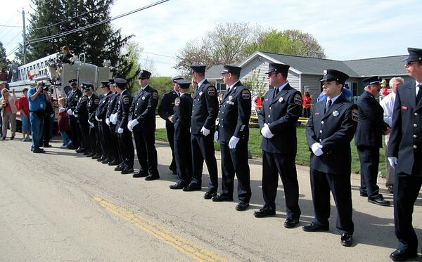Syracuse Firefighters Greet the Johnson Family