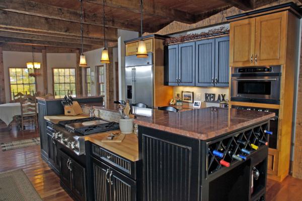 Tiered island kitchen by McClurg
