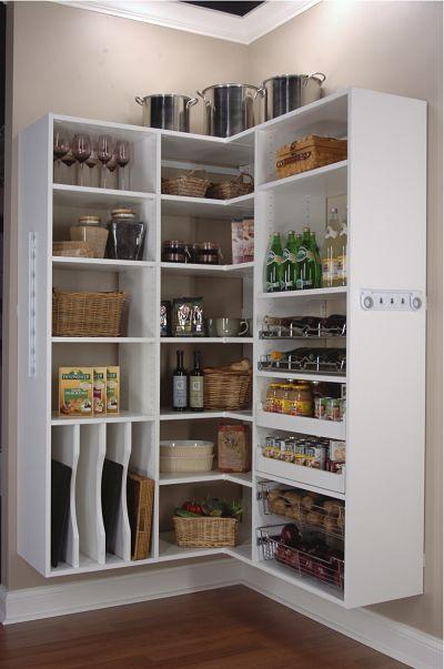 Delightful Open Shelf Pantry Storage