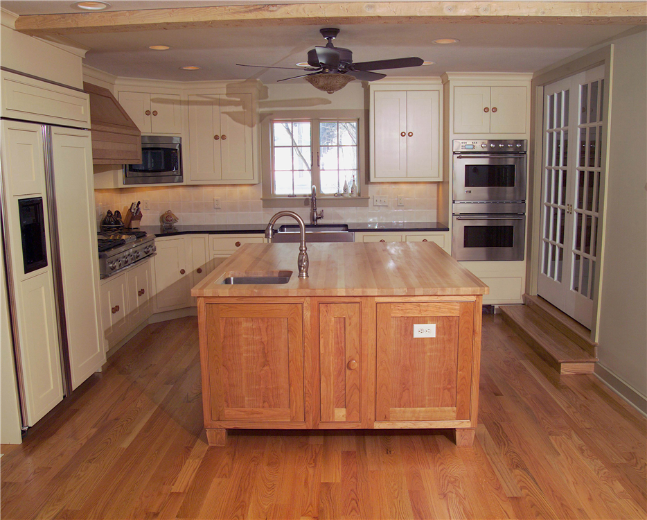 This new addition allowed room to expand the kitchen and make it more functional.