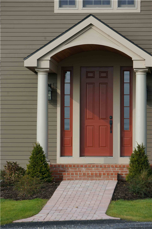 Typically an entry door is 6'-8