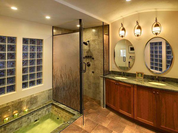 Elegant Bathroom and Artistic Lighting