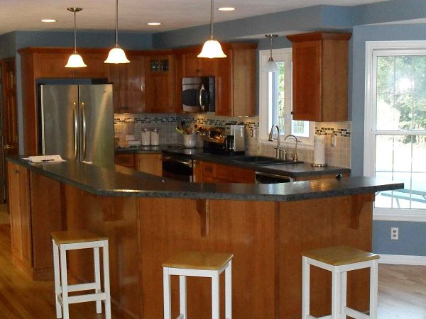 G Shaped Kitchen Floor Plans Afreakatheart