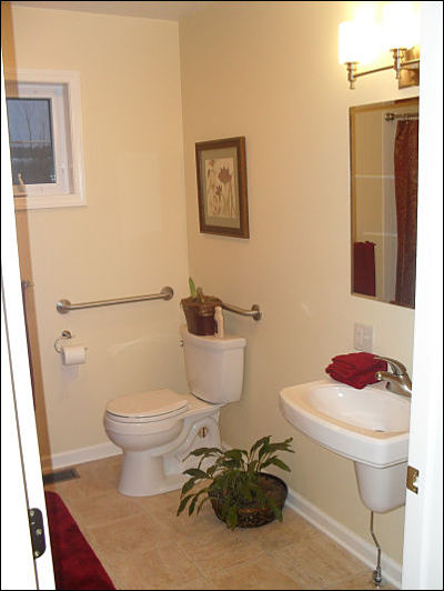 Small Bathroom with Wall Mounted Sink