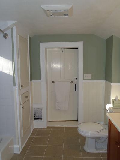 Second Floor Bathroom Built in Cabinet