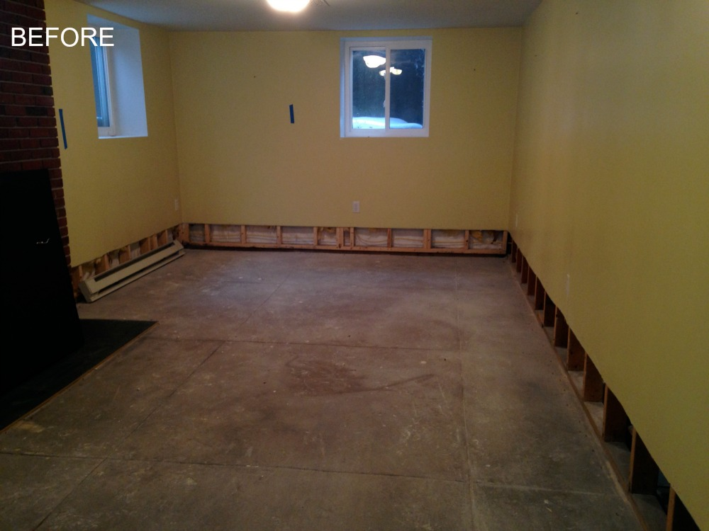 BEFORE - Basement Insurance Restoration