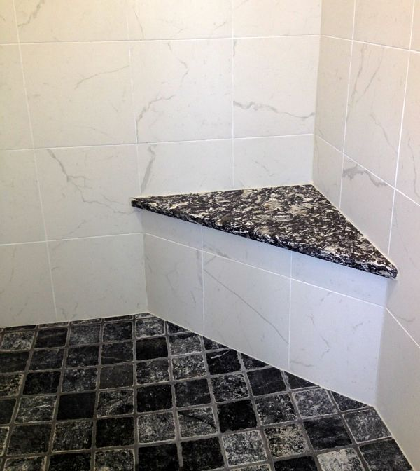 Custom Corner Shower Seat