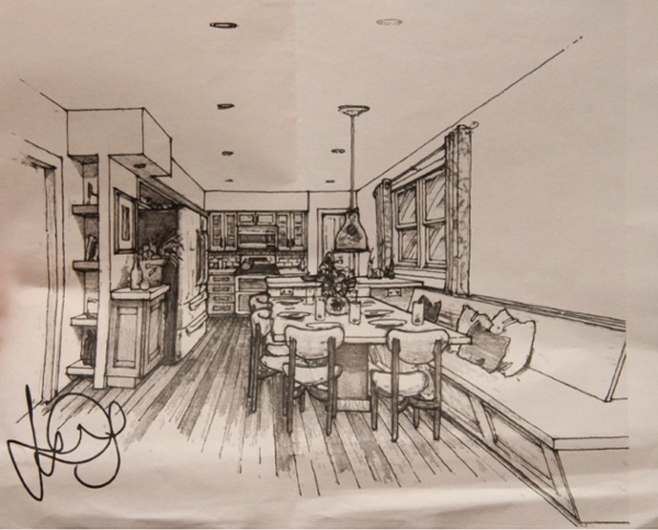 kitchen makeover architectural sketch