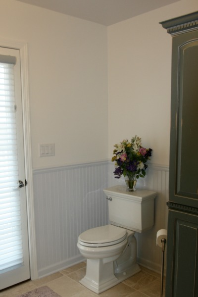 Bathroom with Comfort Height Toilet