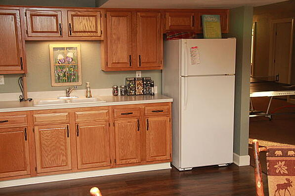 lower level kitchenette remodel