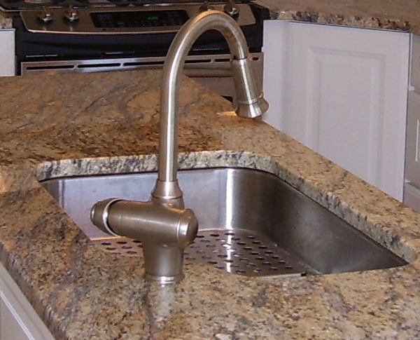 Undermounted stainless steel sink