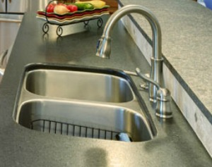 Stainless steel sink double bowl undermount