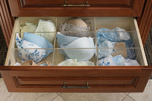 Lingerie Drawer with Dividers