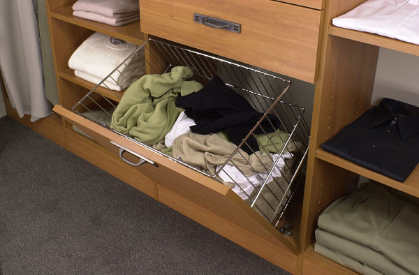 Custom Closet with Tilt Out Hamper