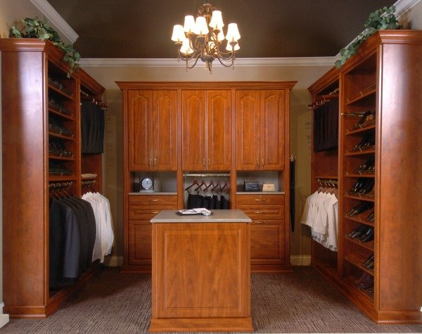 Custom Walk-In Closet with Island