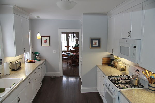 Project of the month syracuse galley style kitchen remodel for Galley style kitchen remodel