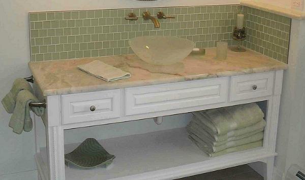 Carrara Marble Vanity Countertop