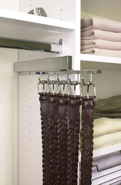 retractable belt rack for closets
