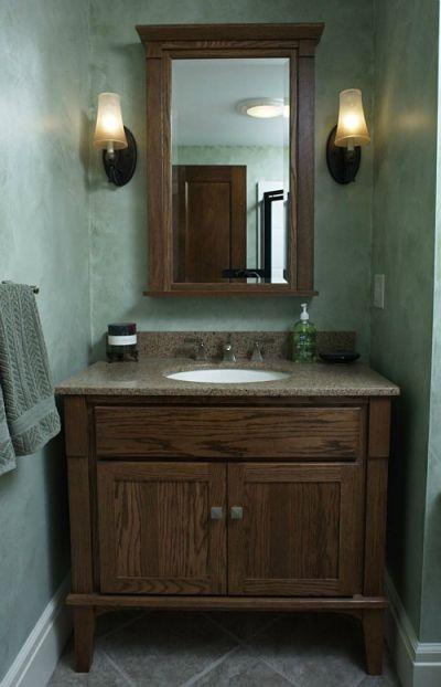 Half Bath with Furniture Style Vanity