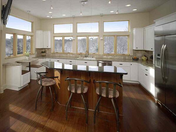 Kitchen with Ceiling Spotlights