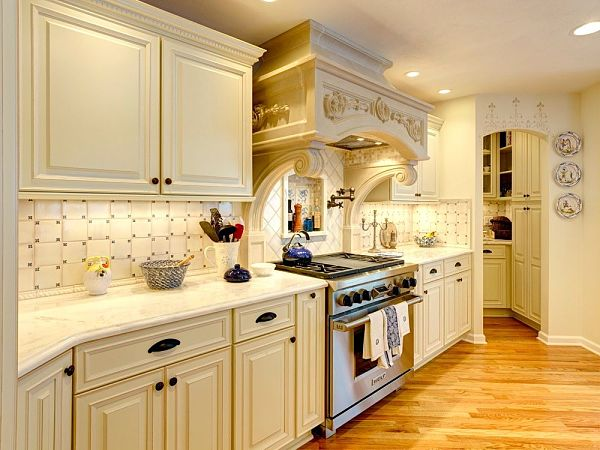 custom cabinets and marble counters