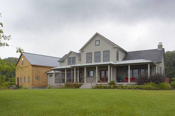 Classic American farmhouse style home