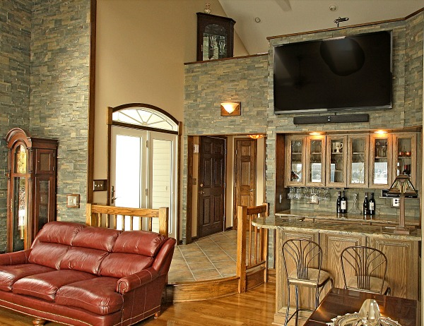 multipurpose family room bar