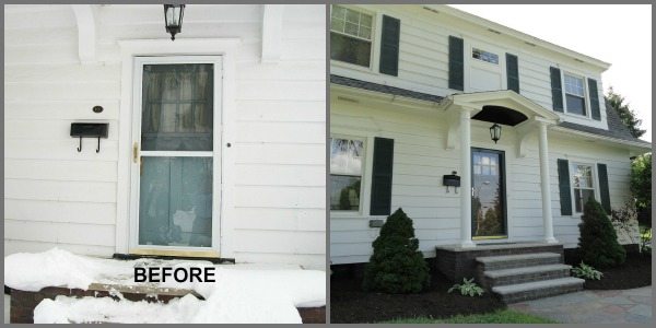 front entry door before and after