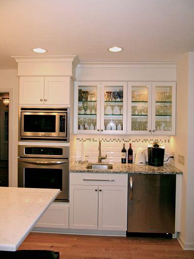 kitchen with beverage bar